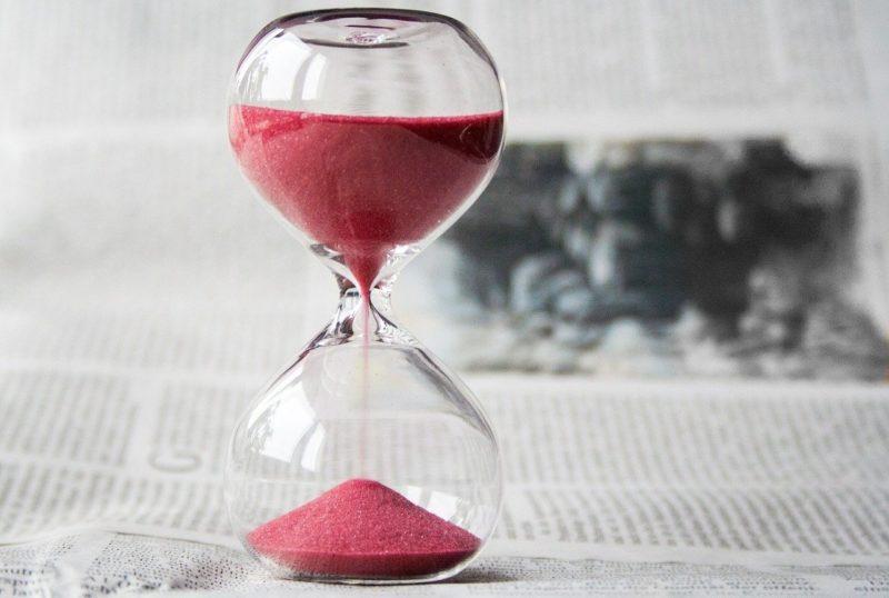 時間を置く